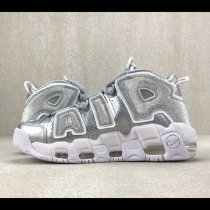Nike Shoes - Nike Air More Uptempo Gray Metallic Silver Shoes